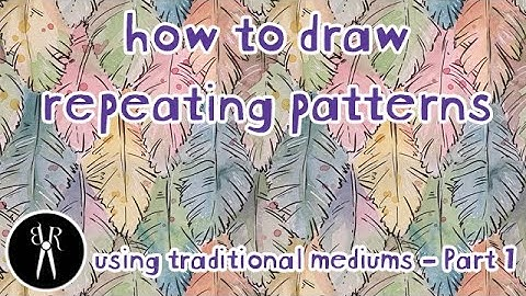 how to  draw a repeating pattern tutorial  part 1