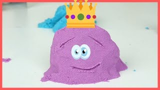 Playing with  Colorful  Kinetic Sand & Funny Kids Videos