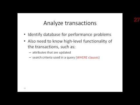 Physical Database Design Methodology