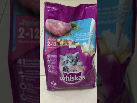รีวิว อาหารแมวชนิดเม็ด รสปลาทะเลและนม ของวิสกัส