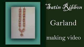 Wedding garland with satin roses tutorial