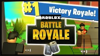 VICTORY ROYALE IN ROBLOX FORTNITE!! (Roblox Fortnite Island Royale)