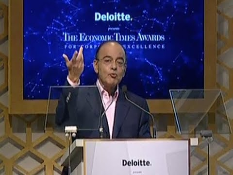 Non-oil tax-to-GDP ratio has to increase: Jaitley | ET Awards 2018