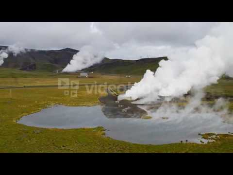 aerial volcanic steam industrial clean power energy economy iceland n1p1b85t
