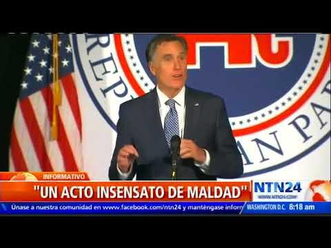 Aspirante republicano al Senado de EE. UU. Mitt Romney hace su primera aparición pública