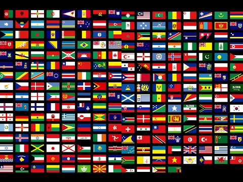 flags of all countries of the world with names 3th part music by