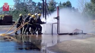 Prácticas realizadas en el curso básico de ingreso en el Servicio de Bomberos - Navarra