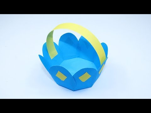 How To Make Paper Flower Basket - DIY Flower Basket for begginers