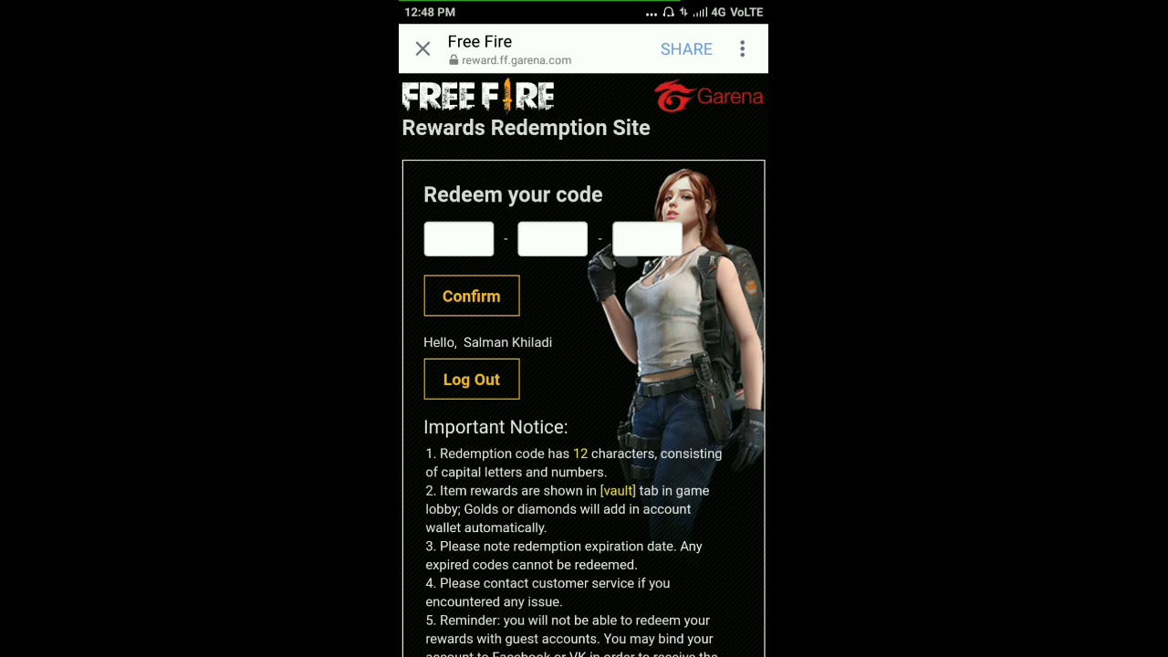 Server Online Rann.Space/Ff Latest Redeem Code For Free ...