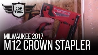 "Milwaukee M12 Crown Stapler 3/8"" T50 Cordless 2447-20 & 2447-21 NPS17"