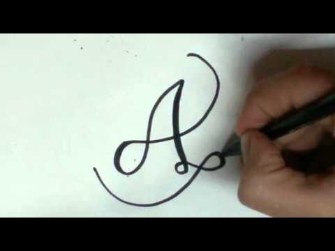font styles - A letter (easy) - YouTube