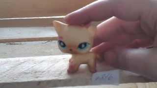 Кошка жёлтая стоячая #816 с бирюзовыми глазами