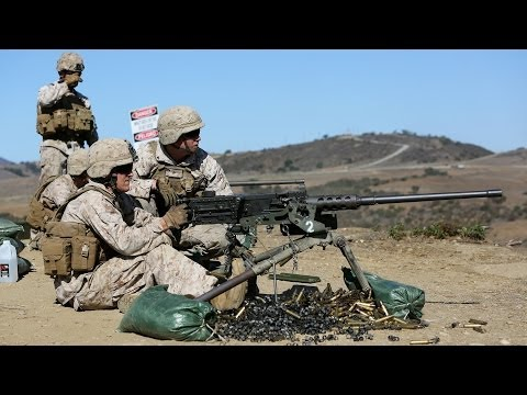 Marines Refine Machine Gun Marksmanship