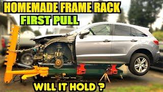 First Frame Pull Test on my Homemade Frame Rack Jig.