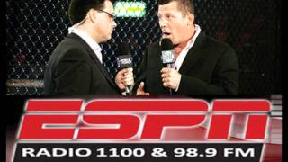 STRIKEFORCE announcers MAURO, MILETICH AND QUADROS on ESPN1100 talking big fights