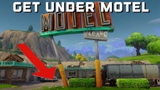 *new* season 4 2018 get under motel Fortnite battle royale glitch