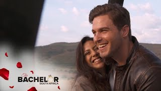 Michelle R's First Kiss, Plus A Magical Hot Air Balloon Date | The Bachelor SA | M-Net