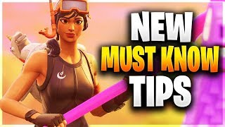 NEW PRO TIPS YOU NEED TO KNOW! (Fortnite Battle Royale)