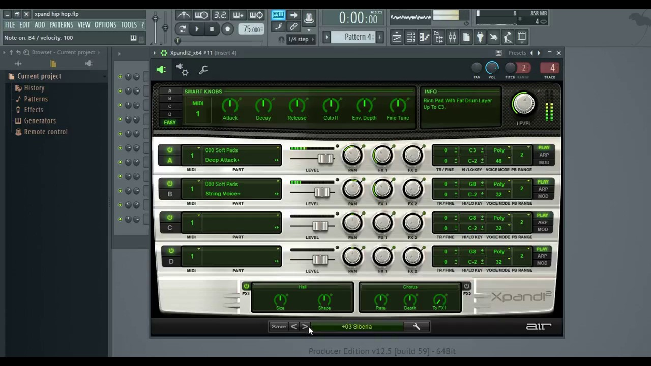 Air Music Technology Xpand! 2 Vst ( Soft Pads & Demo Song )