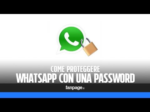 Come mettere la password a WhatsApp