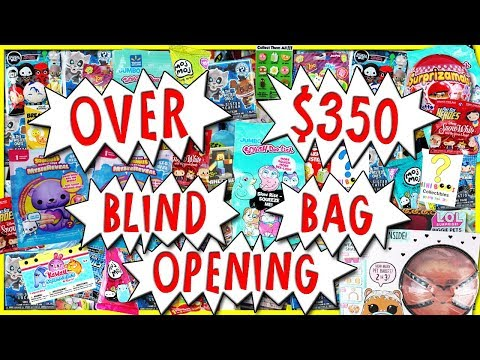 OVER $350 BLIND BAG OPENING 🎁 Lol Surprise & MORE Surprise Toys Compilation | Trusty Toy Channel