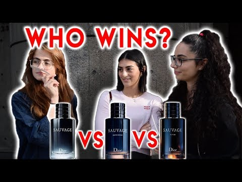 Dior Sauvage PARFUM Vs. EDP Vs. EDT (Women's Reactions To Fragrance/Cologne)
