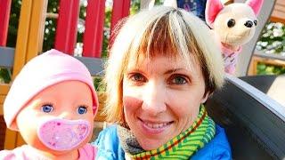Видео про куклу Baby Born и собачку ChiChi Love. Как МАМА. Прогулка и слинг шарф(Видео для девочек, которые любят играть в куклы и хотят быть КАК МАМА. Игрушечная собачка Подружка ЧиЧиЛав..., 2015-09-16T07:38:57.000Z)