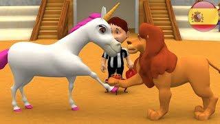 El león y el unicornio | Rimas Para Niños | Niños | canciones Infantiles | Loin And The Unicorn