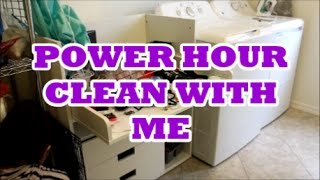 POWER HOUR | SPEED CLEAN WITH ME | COLLAB WITH LOVE MEG