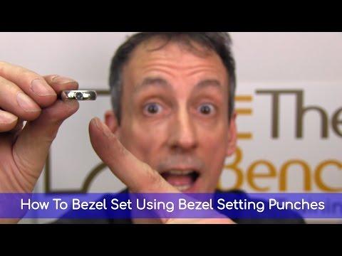 How To Bezel Set Using Bezel Setting Punches - Making Your Own Silver Bezel Set Gemstone Ring