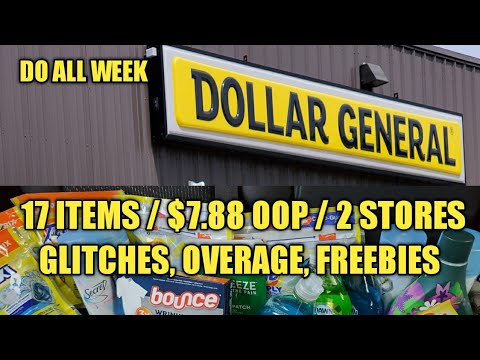 7/14/2020 17 ITEMS/$7.88 OOP DOLLAR GENERAL COUPONING HAUL GLITCHES, FREEBIE, OVERAGE , DO ALL WEEK