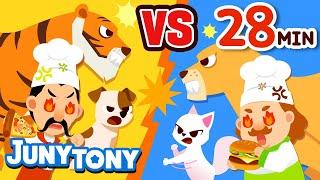 Dog vs. Cat, Pizza vs. Hamburger and More VS Songs | Best Kids Songs Compilation | JunyTony