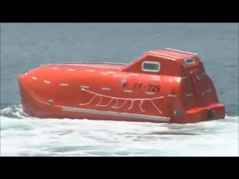 Lifeboat Launched from 30 Meters Up