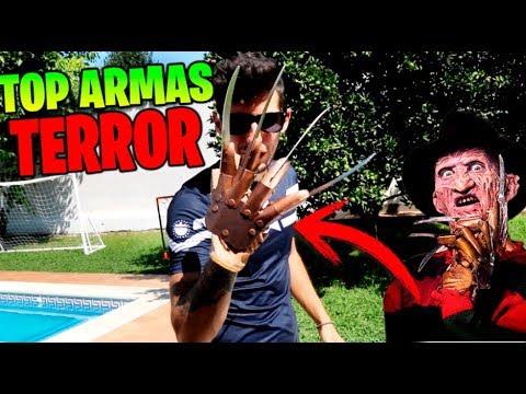 TOP 5 ARMAS LETALES DE PELÍCULAS DE TERROR **LAS MAS LETALES** Makiman