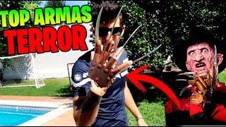 TOP 5 ARMAS LETALES DE PELÍCULAS DE TERROR **LAS MAS LETALES** Makiman thumbnail
