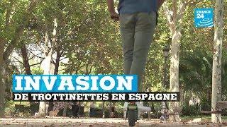 Invasion de trottinettes en Espagne