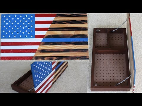 Wooden Flag Hidden Storage DIY