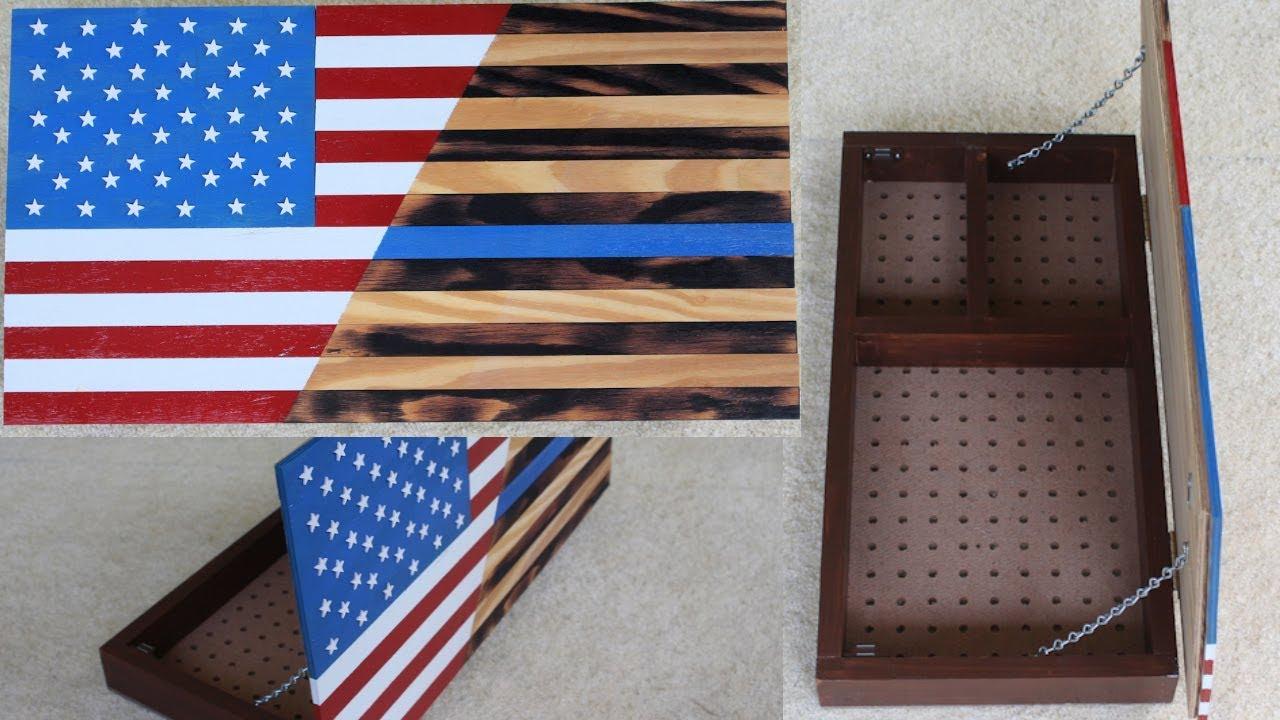 Wooden Flag Hidden Storage Diy