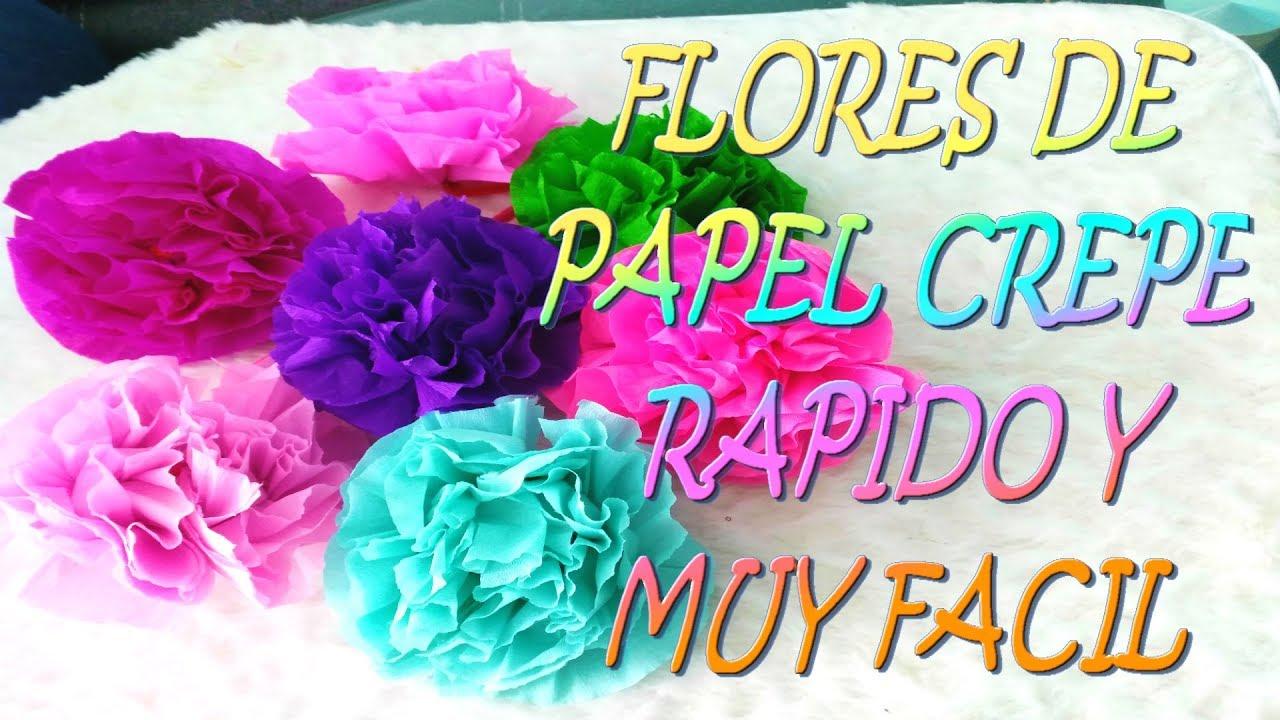 Flores de papel crepe faciles de hacer youtube - Como hacer cosas de papel paso a paso faciles ...