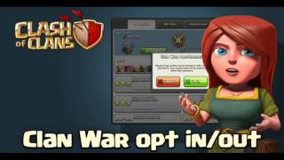 Clash of clans February update opt in opt out war