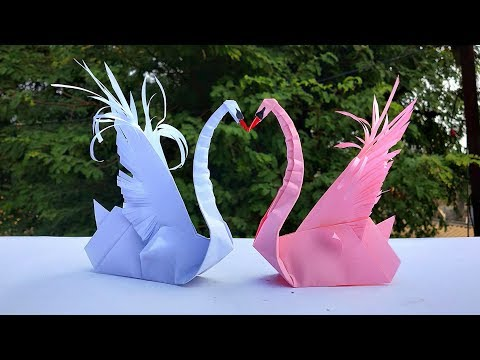 How to Make Paper Swan || Origami Swan || Easy Paper Craft - DIY