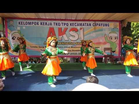 Tari Jadikan Kami Anak yang Soleh TPQ Raudhatul Janah Lubang Buaya, Cipayung, Jakarta Timur