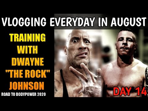 "TRAINING WITH DWAYNE ""THE ROCK"" JOHNSON 
