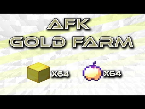 AFK Overworld Gold Farm for Tu62 w/ Item Sorter and Auto Smelter