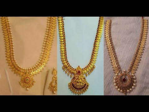 Latest Light Weight Gold Long Haram Designs 70Grams - She Fashion