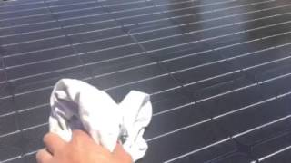 DIY- inspecting rooftop panels a day after rain.