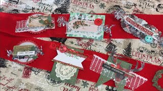 DIY Christmas layered embellishments / use your scraps!