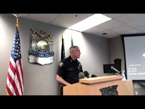 Portland Police Chief Addresses Planned Proud Boys' Rally Saturday