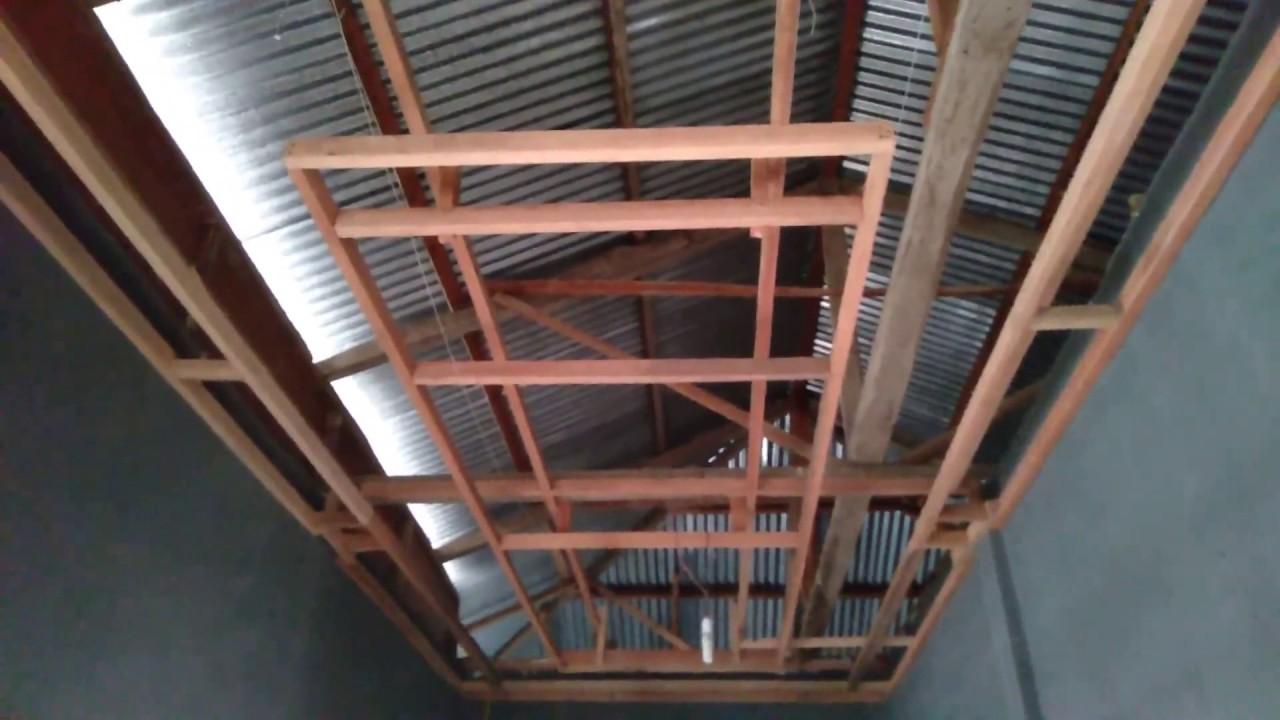 Cara Membuat Kerangka Plafon Rumah Part 1 Youtube Cara memasang plafon triplek
