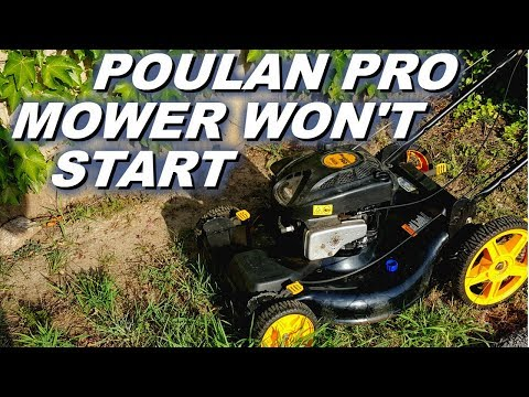 Poulan pro mower won't start